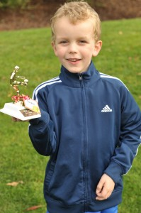 AJ with soccer trophy, Fall 2011